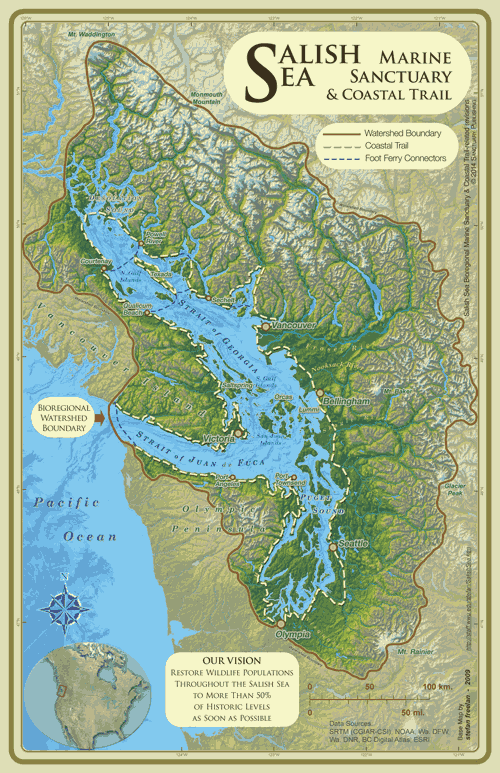 Salish Sea Marine Sanctuary Map